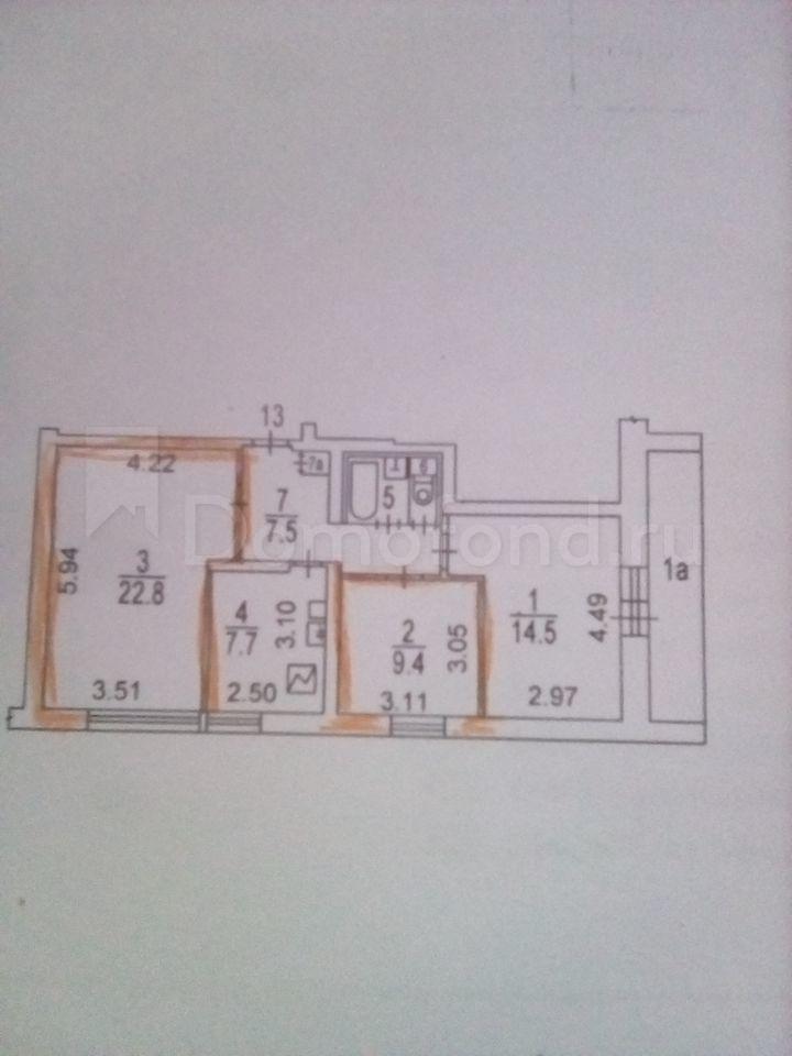 Квартира Комната В 3-Комн. Квартире, 34 М², 3/16 Эт. Москва